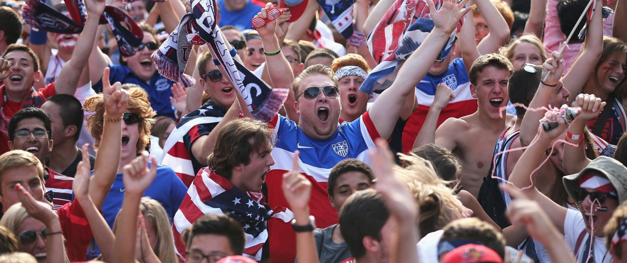 Image: Soccer Fans Gather To Watch U.S. Play Portugal In World Cup Match