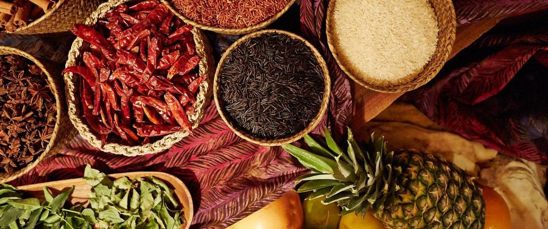 Spices used by Chef Christina Arokiasamy.