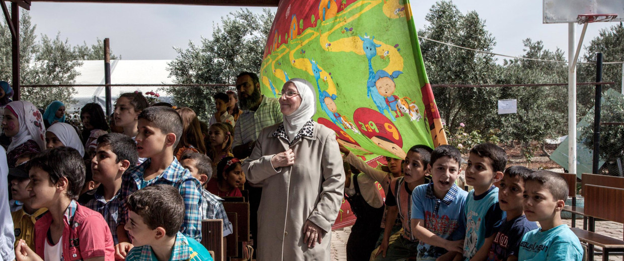 Image: Head mistress and founder of Al Salam school in Reyhanli, Hazar Mahayni,