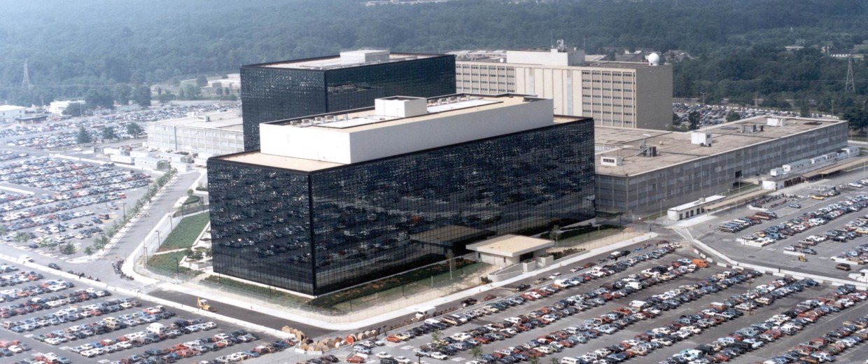 Image: An undated aerial handout photo shows the National Security Agency (NSA) headquarters building in Fort Meade, Maryland