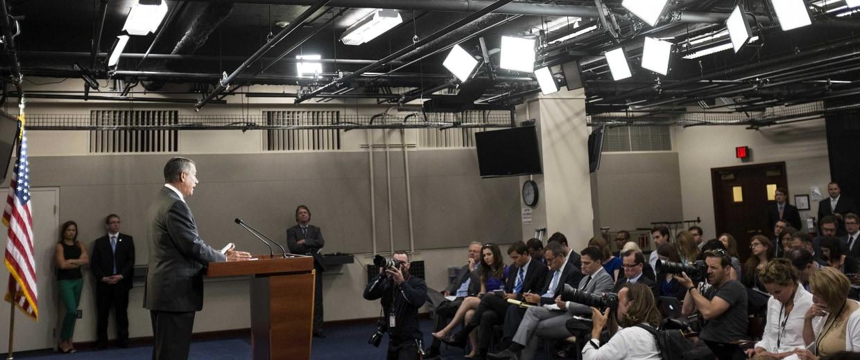 Image: Speaker of the House John Boehner speaks to the media on Capitol Hill in Washington