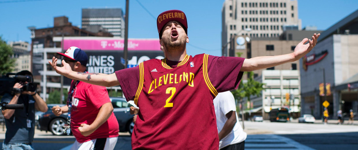 Image: Cleveland Celebrates LeBron James Coming Home