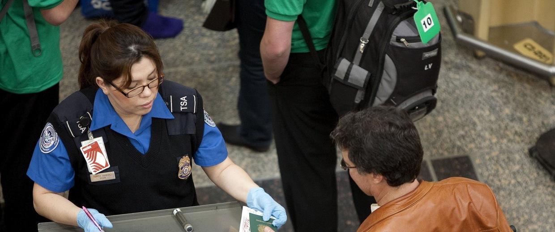 Image: A TSA employee