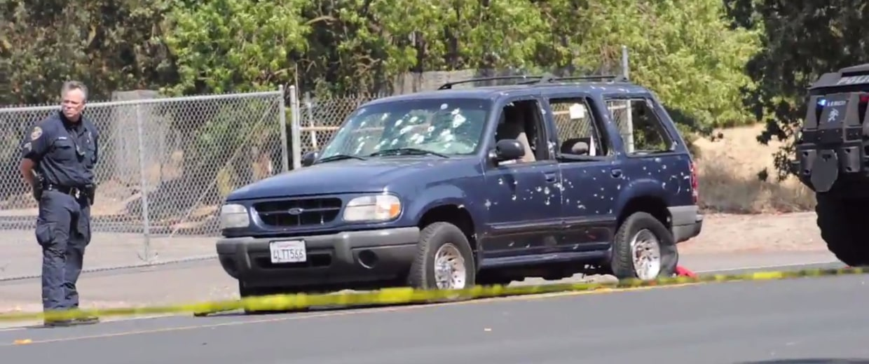Aftermath of bank robbery, chase in north Stockton