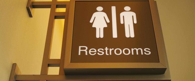 Women & Mens Bathroom Sign