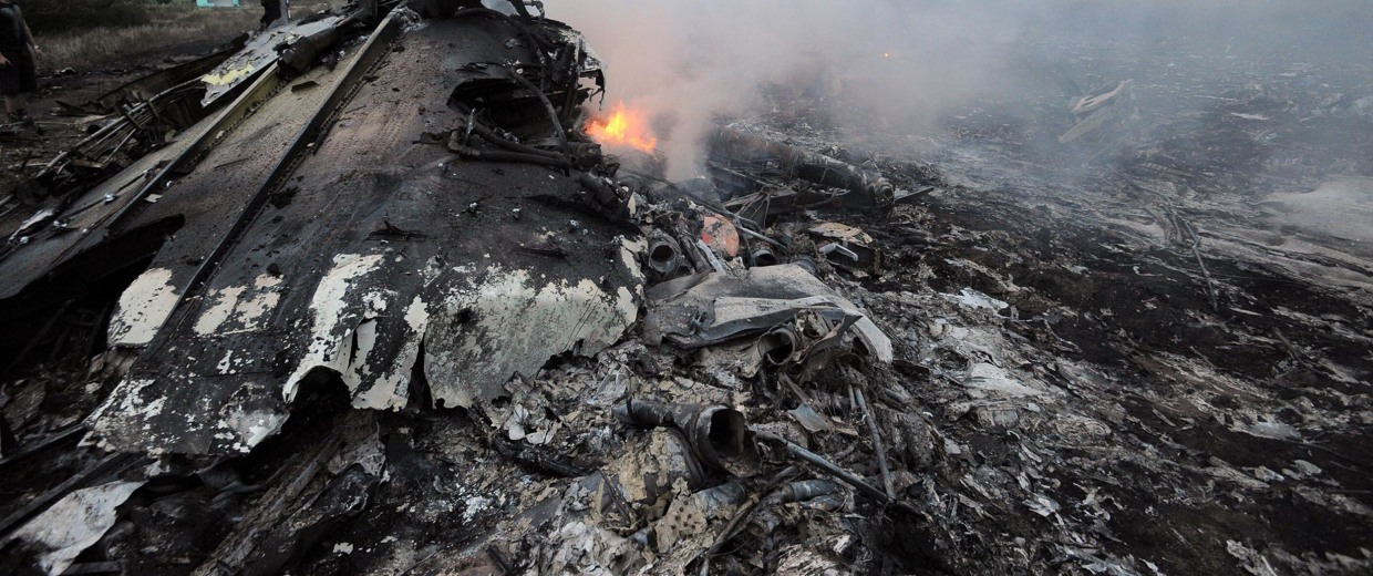 Image: Wreckage of the Malaysian airliner carrying 295 people from Amsterdam to Kuala Lumpur after it crashed, near the town of Shaktarsk, in rebel-held east Ukraine on July 17.