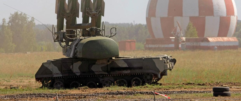 A Russian Buk-M2 air defense system