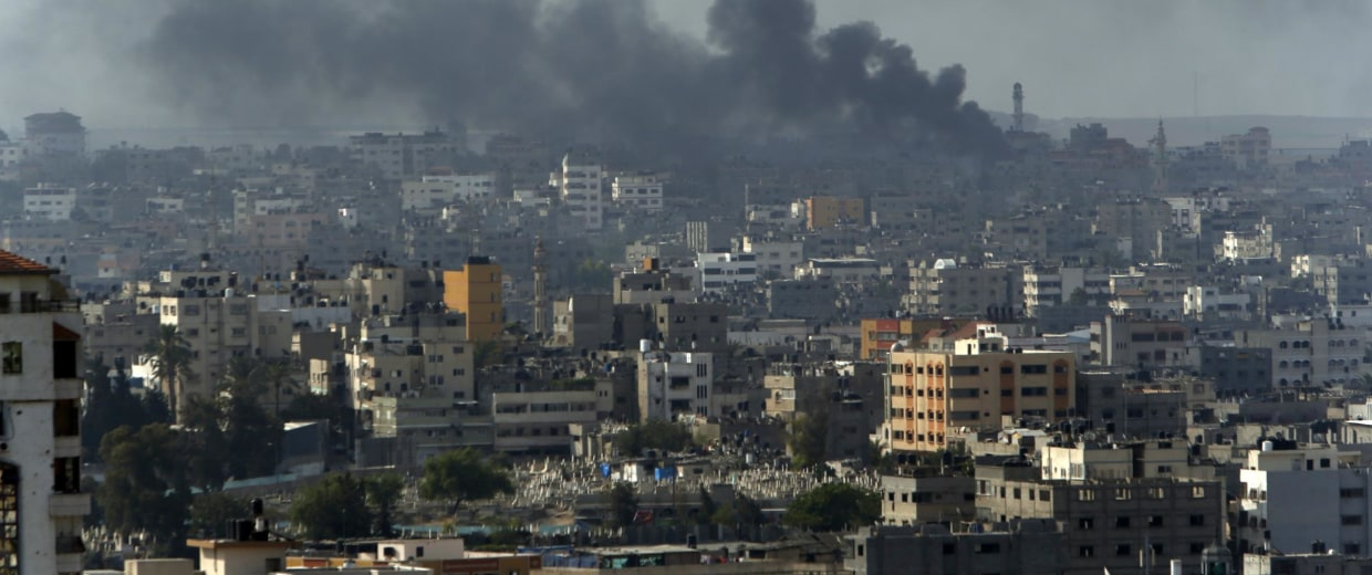 Image: Smoke from an Israeli strike rises over Gaza City on Monday
