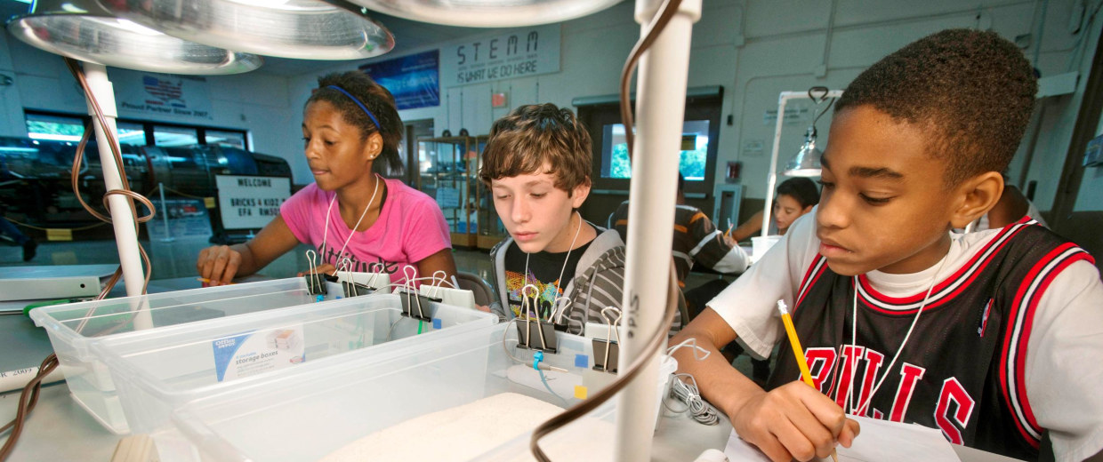 Image: Scholar's Summer Institute program works to promote interest in science, technology, engineering and math among minority students.