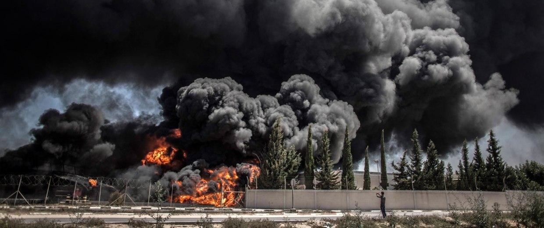 Image: Israel renewed intense airstrikes on Gaza
