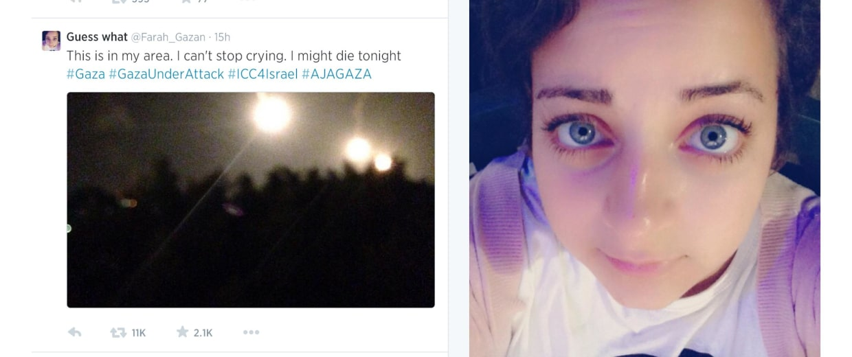 Farah Baker, a 16-year-old Palestinian, has been tweeting about the conflict in Gaza.