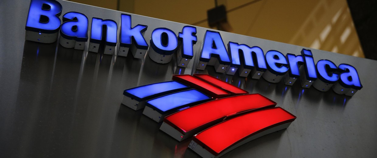 Image: A Bank of America sign