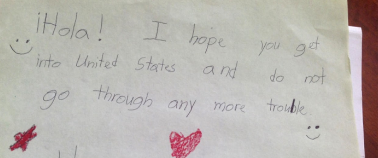 Image: Letters written in support of immigrant children