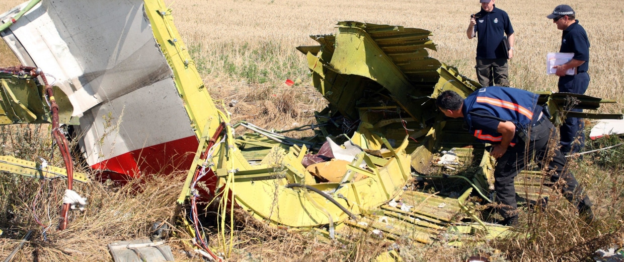 Image: Foreign experts arrive at MH17 crash site in east Ukraine