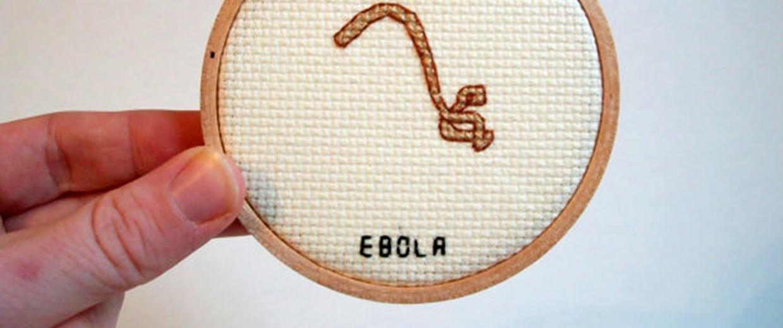 Image: An Ebola cross stich