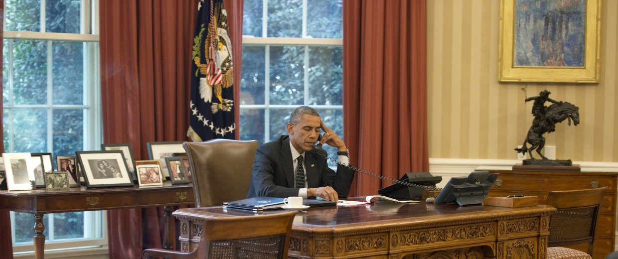 Image: President Obama Speaks With King Abdullah II of Jordan
