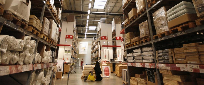 Customers shop at an Ikea store in Dubai