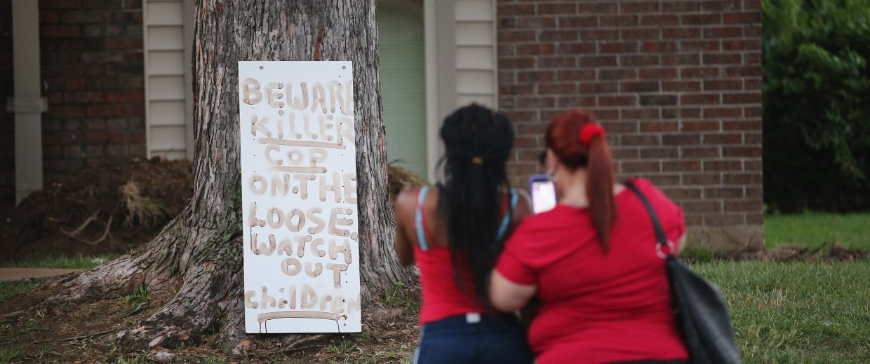 Image: Outrage In Missouri Town After Police Shooting Of 18-Yr-Old Man