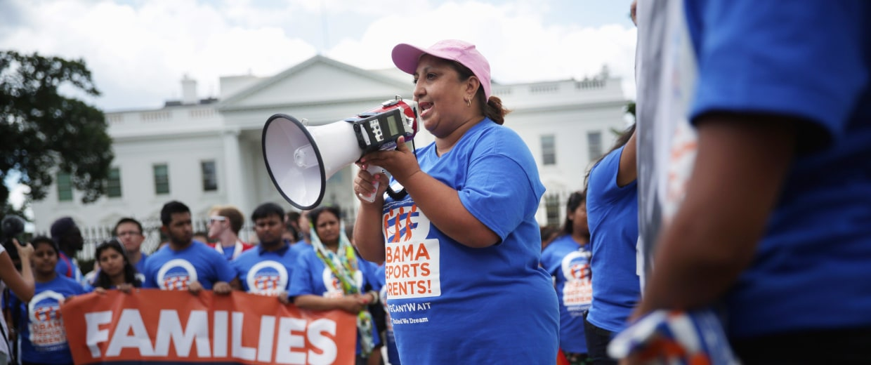 """Image: """"DREAMers"""" Hold Rally On Immigration At White House"""