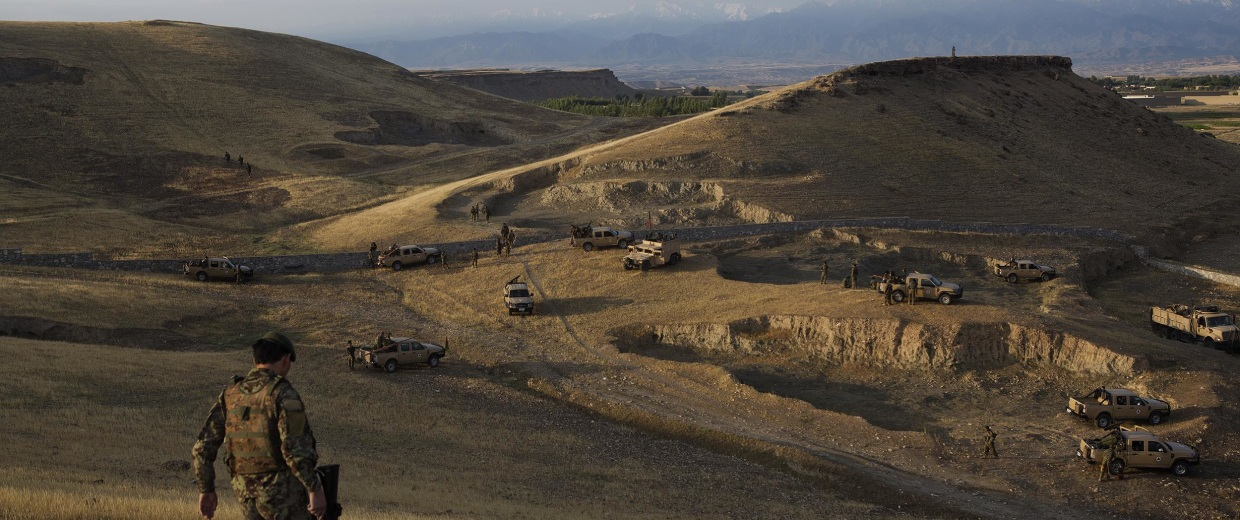 Image: Afghan National Army soldiers of the 4th Brigade, 201st Corps participate in a large clearing operation in the district of Pachir Wa Agam, Nangarhar Province, Afghanistan