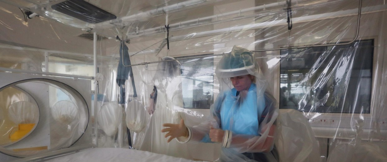 Image: (FILE) A Briton Infected With Ebola To Receive Treatment In The UK Ebola Virus Preparations At The Royal Free Hospital