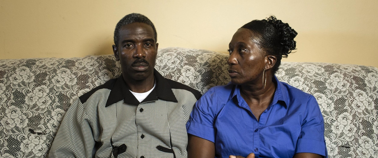 Image: Rev. Victor White and Vanessa White, parents of the deceased Victor White III photographed in