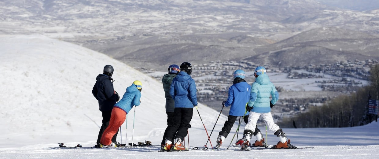 Image: Skiiers at Park City Mountain Resort in Park City, Utah