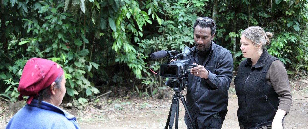 Image: Shooting on localtion in Chalalan Ecolodge, Bolivia