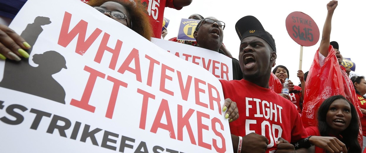 If fast food workers get what they want in their wage battle with companies, restaurants and franchisees may be raising the price of your burger and fries.