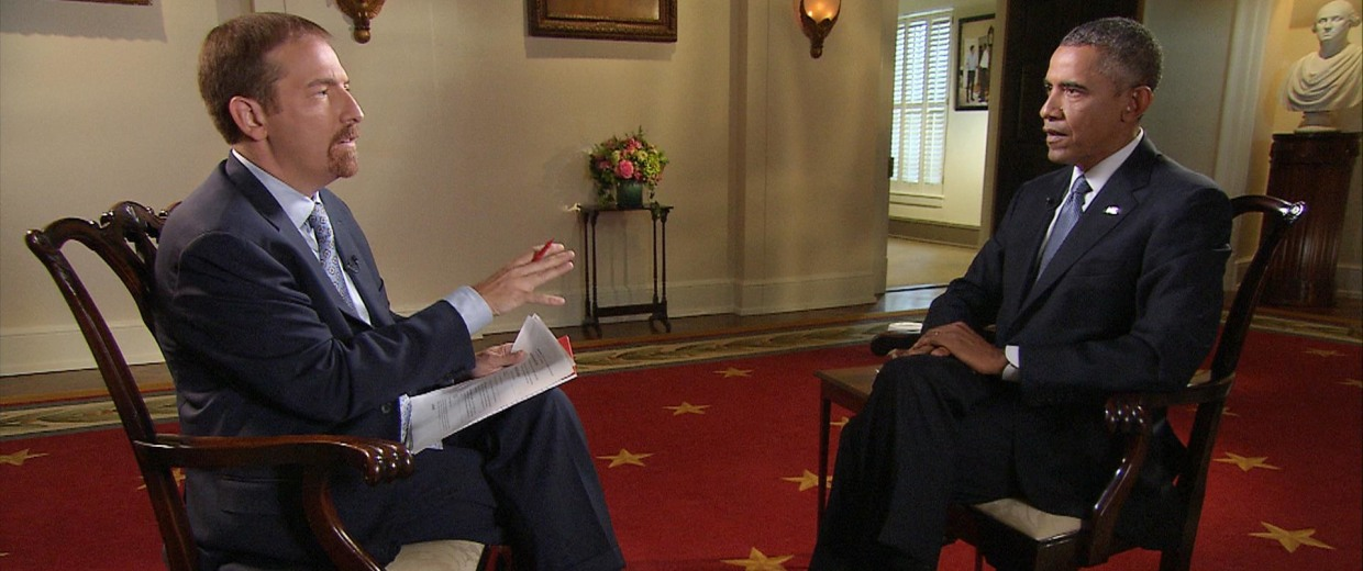 Image: Chuck Todd interviews President Barack Obama
