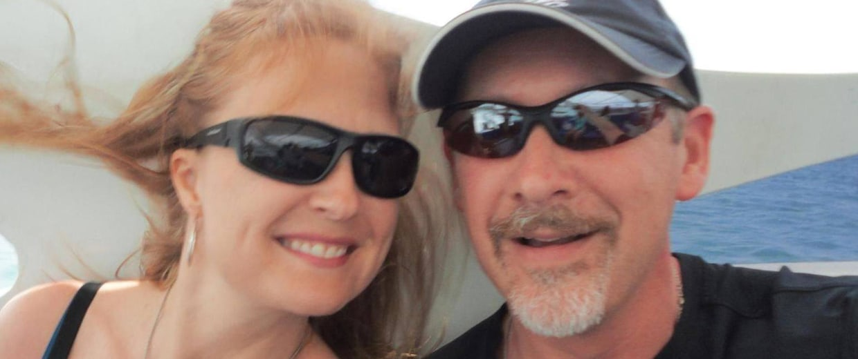 Image: Sarah Bajc with her boyfriend Philip Wood, a passenger on missing Malaysian Airlines flight 370.