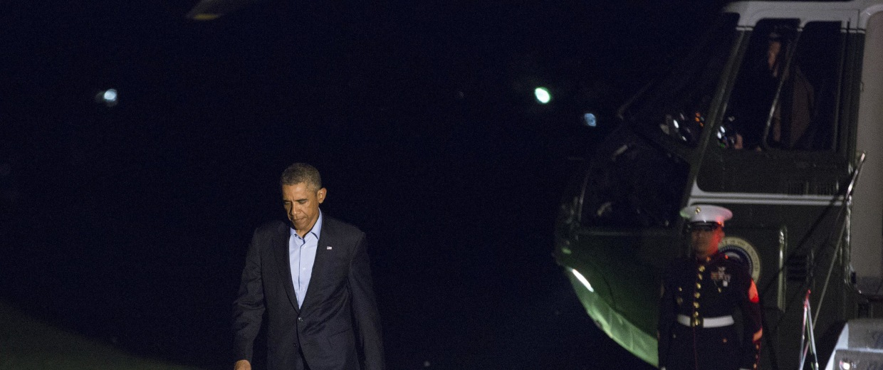 Image: President Obama Returns From NATO Summit