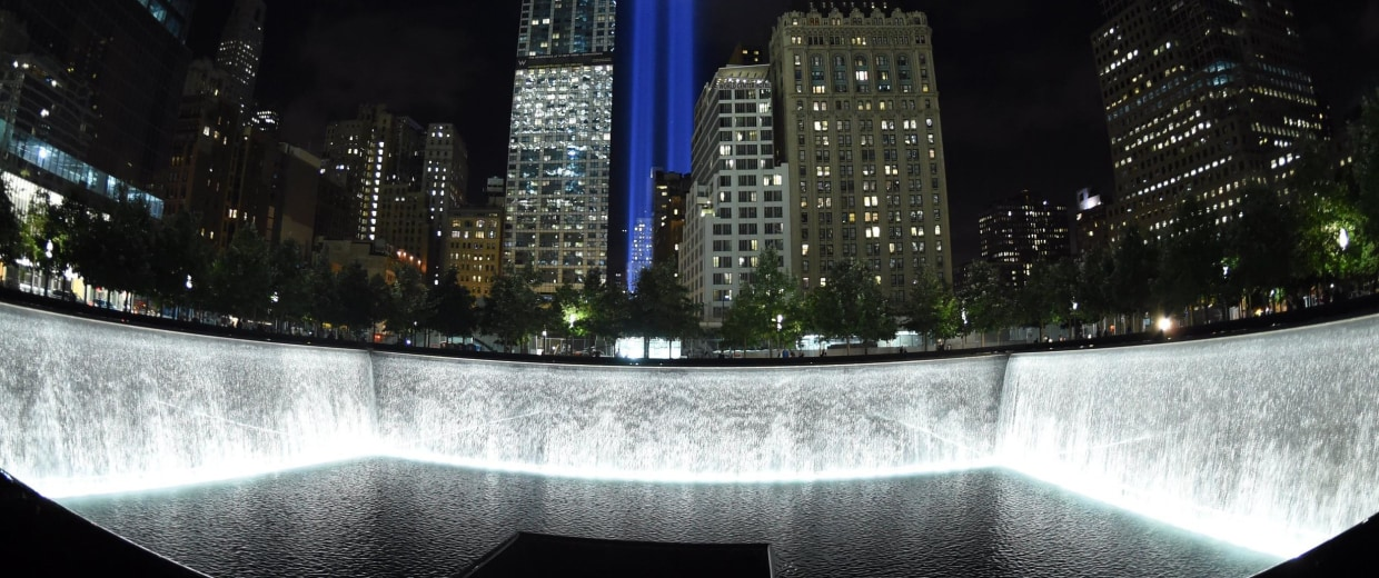 Image: US - ATTACKS - 911 - TRIBUTE IN LIGHTS