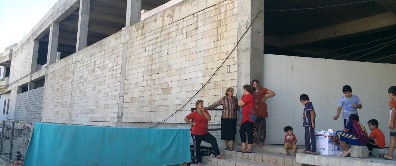 Christian refugee camp in Erbil.