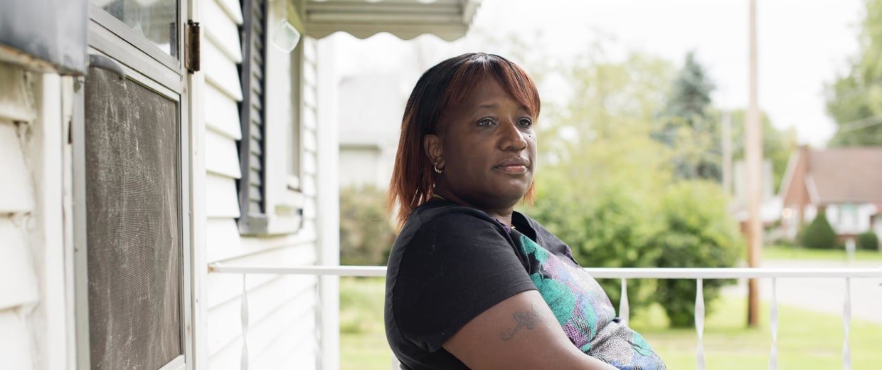 Image: Karen McCleod, 59 of Canton, Ohio, lost her job last September as a re-entry coordinator