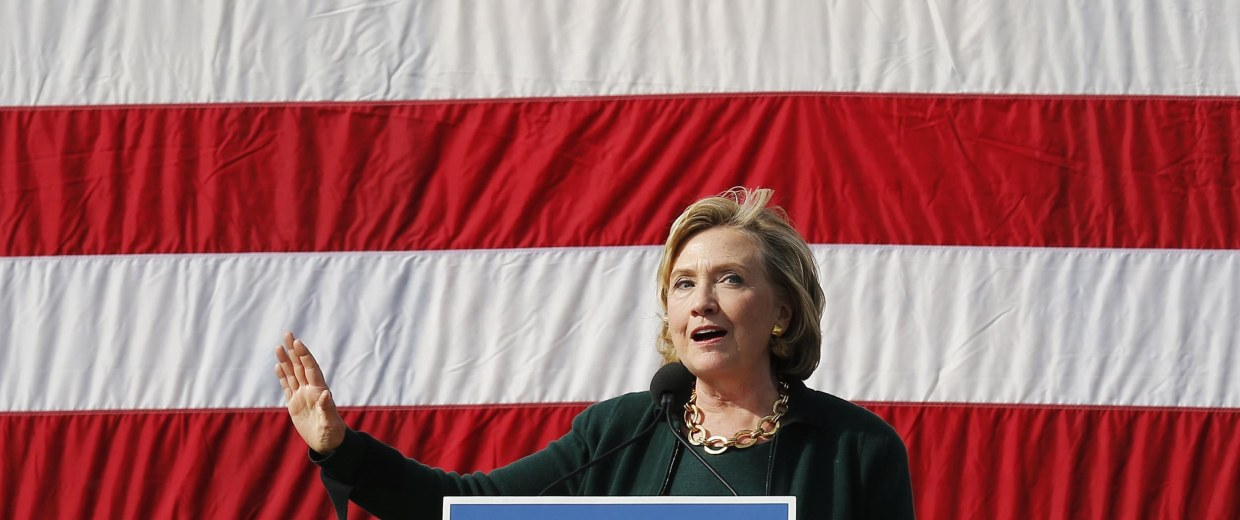 Image: Former U.S. Secretary of State Hillary Clinton speaks at the 37th Harkin Steak Fry in Indianola