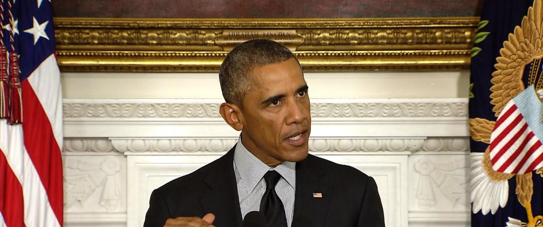 Image: President Barack Obama speaks about funding Syrian rebels