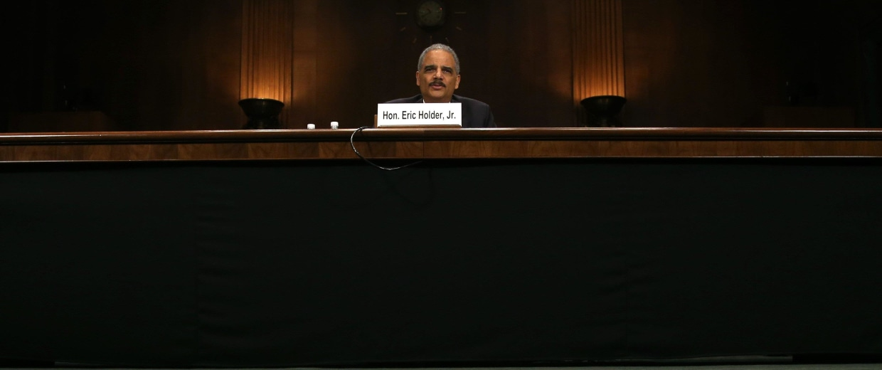 Image: FILE: Attorney General Eric Holder Resigns Holder Testifies Before Senate Hearing On Reform Of Gov't Surveillance Programs