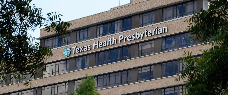 Image: The Texas Health Presbyterian Hospital in Dallas, Texas,