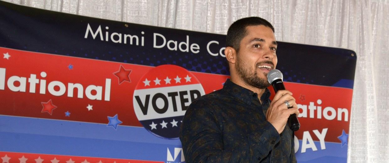 Image: Wilmer Valderrama Promotes National Voter Registration Day