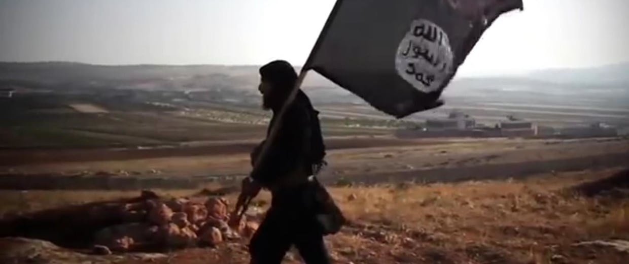 Image: ISIS Militant Holds Flag