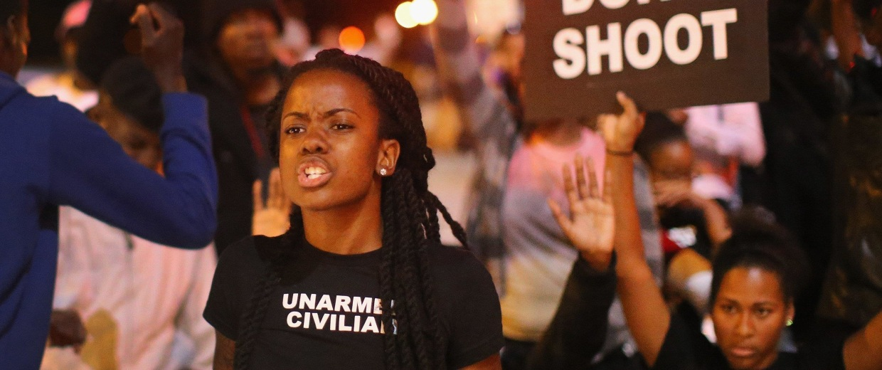 Image: Activists Protest For Justice Against Police Shootings