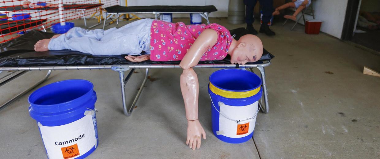 Image: Ebola healthcare worker training in Anniston, Alabama, USA