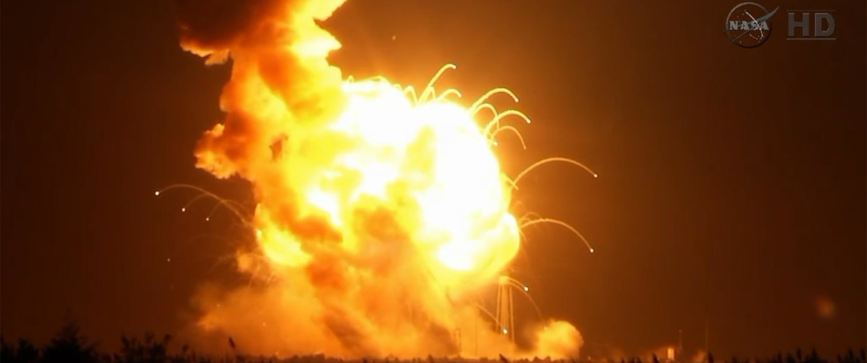 Image: The Antares rocket explodes after launch