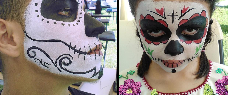 Image: Face painting by artist Carlos Nieto for Dia de los Muertos celebrations.