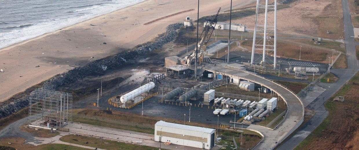 Image: Aerial view of launch pad