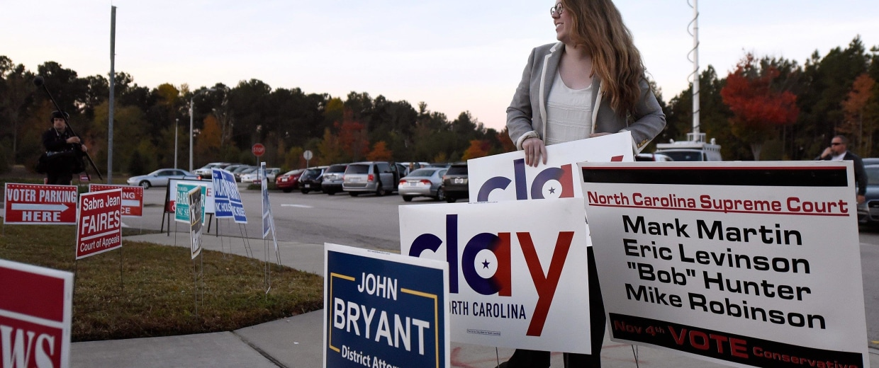 Image: Congressional Candidate Clay Aiken Casts His Vote In The Midterm Elections
