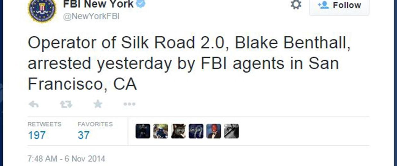 Image: Blake Benthall Arrest Tweet