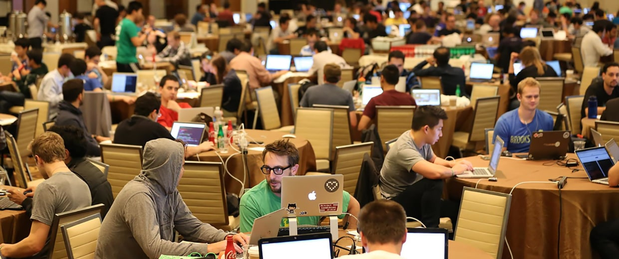 The 2014 Money20/20 Hackathon in Las Vegas where PayPal recruits for IT workers.