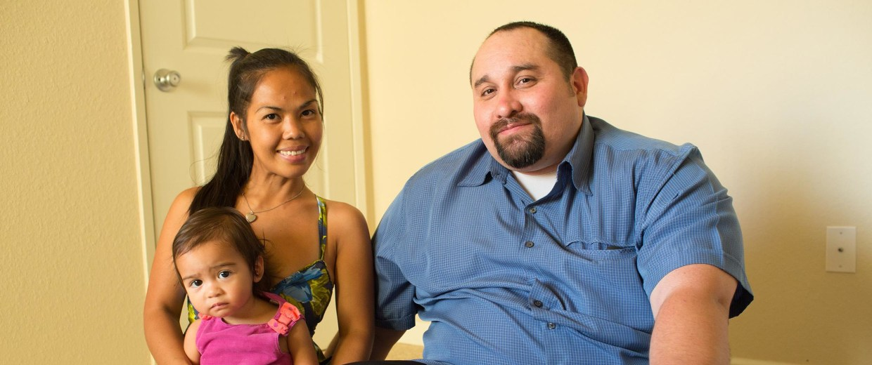 Image: After being homeless for a short time, Louie Serrano, 38, is now settling into an apartment in San Dimas, California